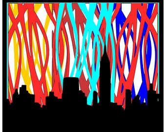 New York Skyline SVG