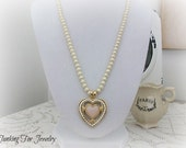 Vintage Avon Victorian Heart Necklace