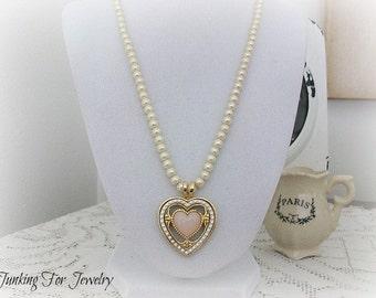 Vintage Avon Victorian Heart Necklace