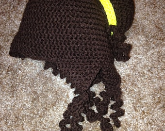 Crochet Belle hat, beauty and the beast, princess