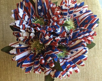 Handcrafted Patriotic Flower Pen Bouquet Stars & Stripes Daisies. You Choose Quantity Blue Or Black Ink