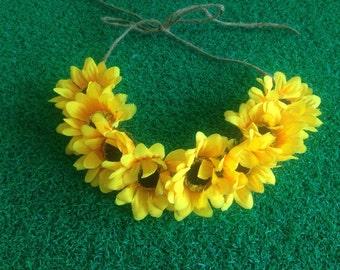 Sunflower Flower crown [yellow]