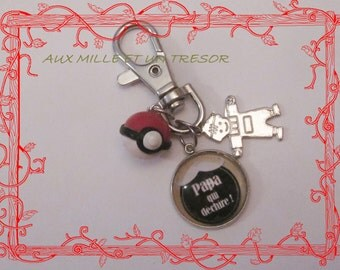 Keyring pokeball fathers day, dad