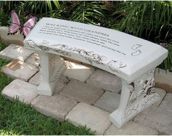 Grandma Concrete Bench