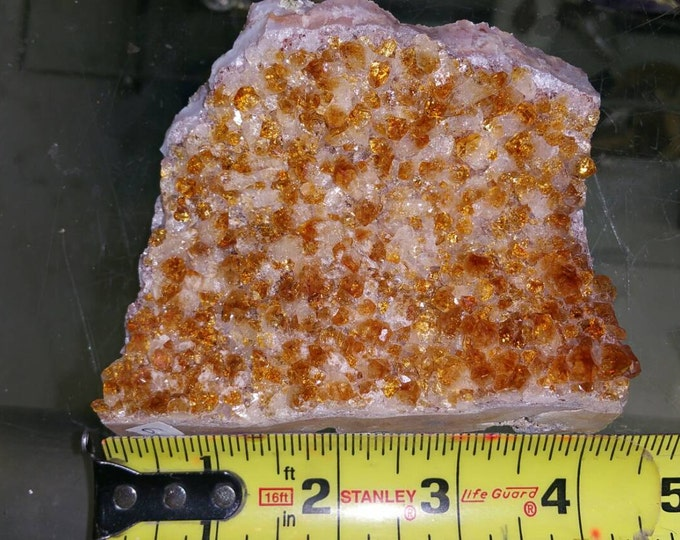 Citrine Crystal Cluster from Brazil- Deep Orange 4 inch cluster Raw Citrine \ Citrine \ Healing Stone \ Success Stone \ Citrine Crystal