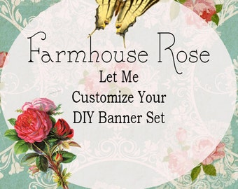 Add On Purchase To Customize DIY Shop Banner Avatar and Business Card Graphics Purchased Separately