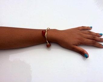 Carnelian Bracelet by Vibes in Stone