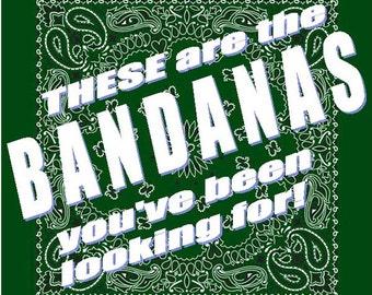 BANDANA - Bandanna. Premium Paisley Hav-A-Hank Bandana. HUNTER Green. Made in the USA.
