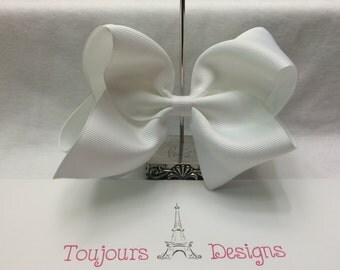 Beautiful Boutique White Hair Bow