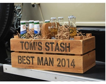 Personalised wooden beer/wine/cider crate holder