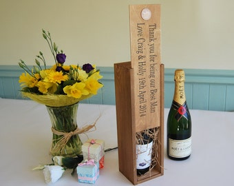 Personalised Wine bottle holder - great for wedding, birthday, retirement or anniversary gift