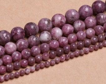 Pink Tourmaline Beads, Round Tourmaline Beads Pink, 4 6 8 10 12mm Natural Pink Tourmaline Gemstone Beads, Stone Beads Tourmaline Strand(B56)