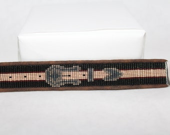Custom Western Belt Loom Beaded Bracelet