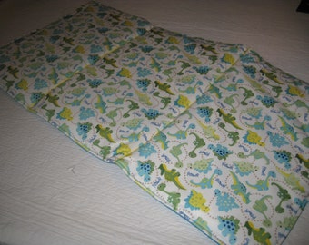 WIPEOFF CHANGING Pad Blue and Green Dinosaurs Padded