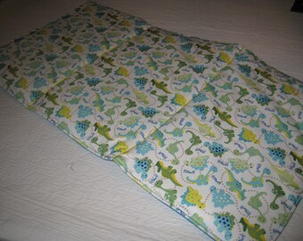 WIPEOFF CHANGING PAD --  Blue and Green Dinosaurs Padded