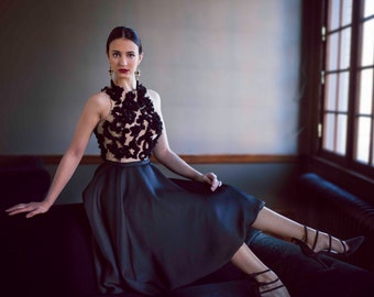 Marisol - Little Black Dress - Illusion Bodice
