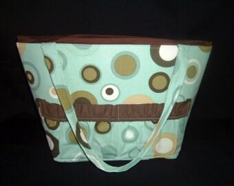 Retro circle Diaper Bag