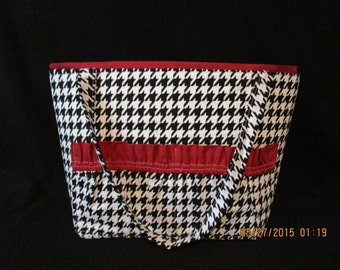 Hounds tooth  Diaper Bag.