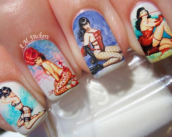 B Page Nail Decals