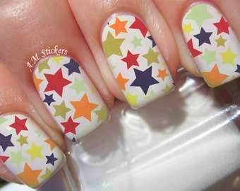 High Quality Stars Nail Decals