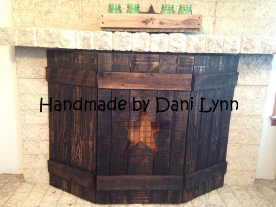Items similar to rustic wooden fireplace screens on etsy