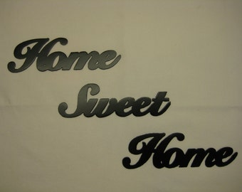 Home Sweet Home Metal Wall Words Set