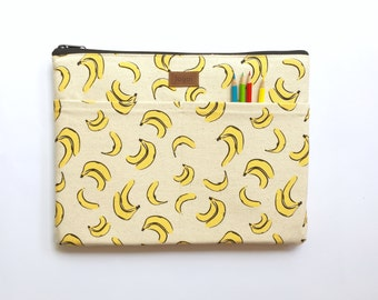 "11 Inch Laptop Case,11 Inch laptop Sleeve,11 Inch MacBook Air Sleeve,11 Inch Macbook Air Case, Dell Chromebook 11.6"" - Tropical Fruit Banana"