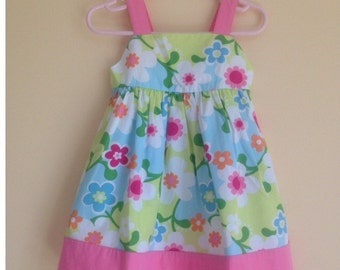 New with tags, gymboree, floral summer dress. Size 12-18 months.