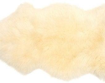 Extra Large Natural Sheepskin Rug