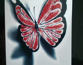 Temporary 3D butterfly tattoo - free UK p&p