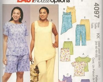 Womens Plus Size Clothes  18/24 New McCalls Sewing Pattern 4097  Easy Pattern