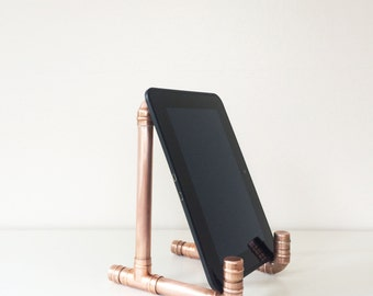 Industrial Modern Copper iPad Stand
