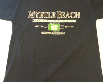 Vintage 80s Myrtle Beach Dept Of Rec Limited Edition South Carolina T Shirt