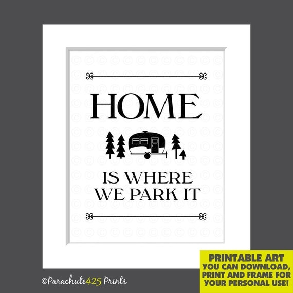 Camper Art Print INSTANT DOWNLOAD Funny By Parachute425Prints