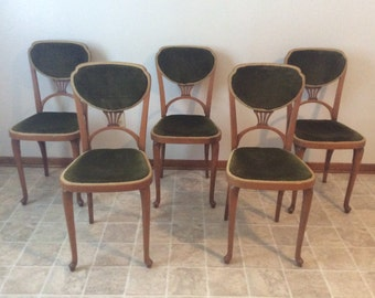 Set of Five  Thonet Art Nouveau Bentwood Chairs