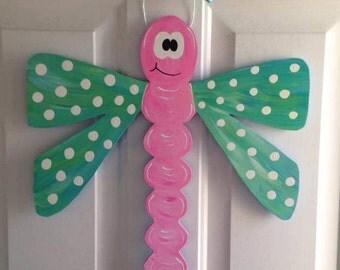 Hand Painted Dragonfly Door Hanger