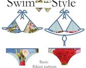 Basic bikini pdf Womens sewing pattern