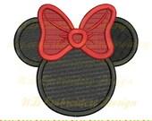 Minnie Maus gefüllt Kreuzstich Stickmuster, beugen, Maschinenstickerei, ms-083-Fill