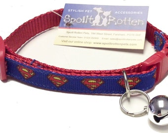 Could Your Cat Be Superman's Sidekick With Our Spoilt Rotten Unique Super Hero Cat Collar - Marvelous Comic Wear For your Super Hero Feline