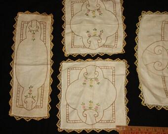 Linen bureau scarves