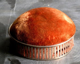 Antique Mauser sterling silver box did jewelry box with a lovely umbre velvet top
