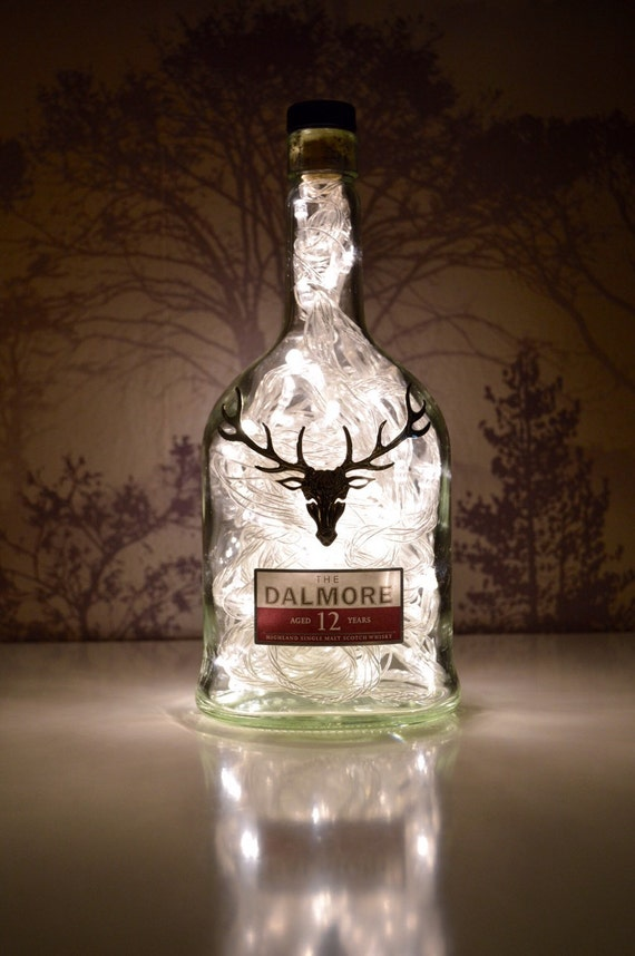 upcycled dalmore whisky flasche lampe. Black Bedroom Furniture Sets. Home Design Ideas
