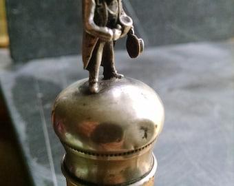 Vintage sterling cork bottle stopper figural looks like Old Man Ebenezer Scrooge