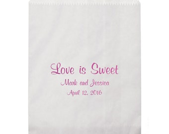 Love is Sweet Personalized Favor Bags