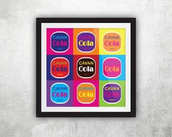 Cavan Cola Label – Warhol (Square)