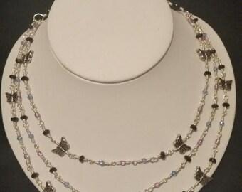 Handmade Wire Butterfly Bib Necklace