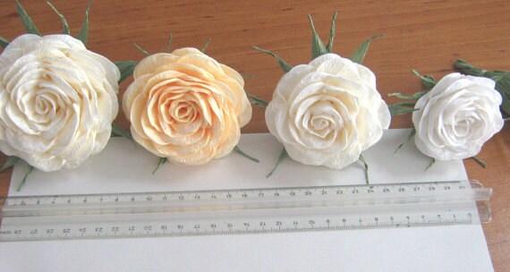 6 krepp papier blumen rose gunst diy dekor von babyshowerflowers