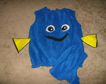 Blue Fish Halloween Costume Custom Made WOMENS