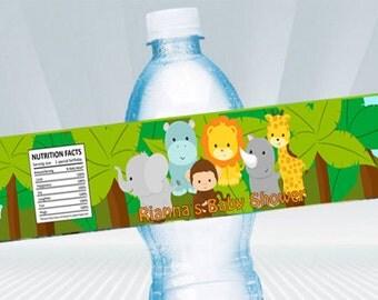 Jungle Safari Water Bottle Wrapper DIY PRINTABLE