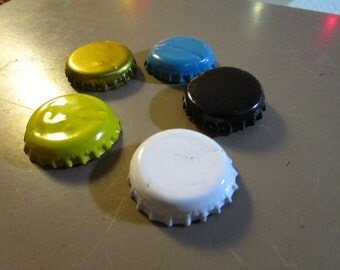 Set of 5 recycled bottle cap magnets